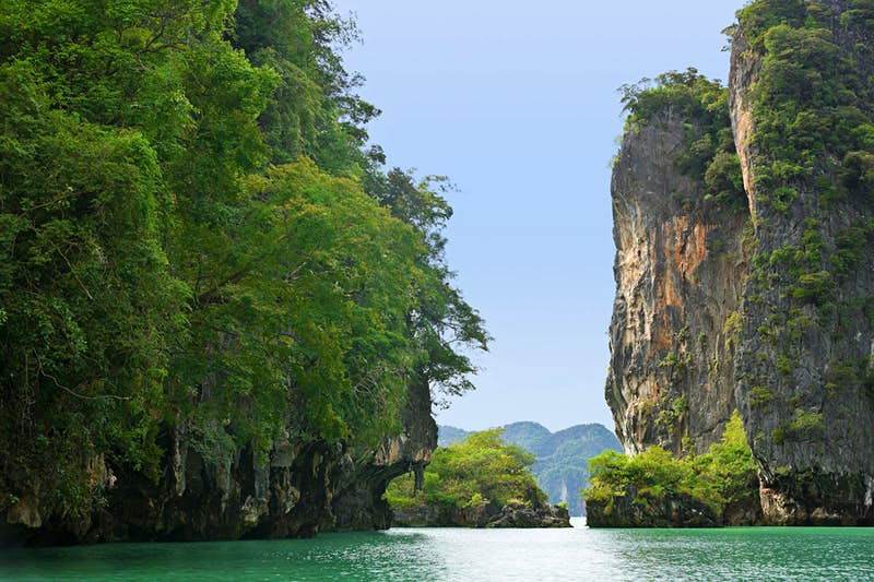 Phang Nga Bay in Thailand, located halfway between the Strait of Malacca and the island of Phuket, served in Revenge of the Sith as the backdrop for the Wookiees' home planet, Kashyyyk. Catherine Sutherland/Lonely Planet