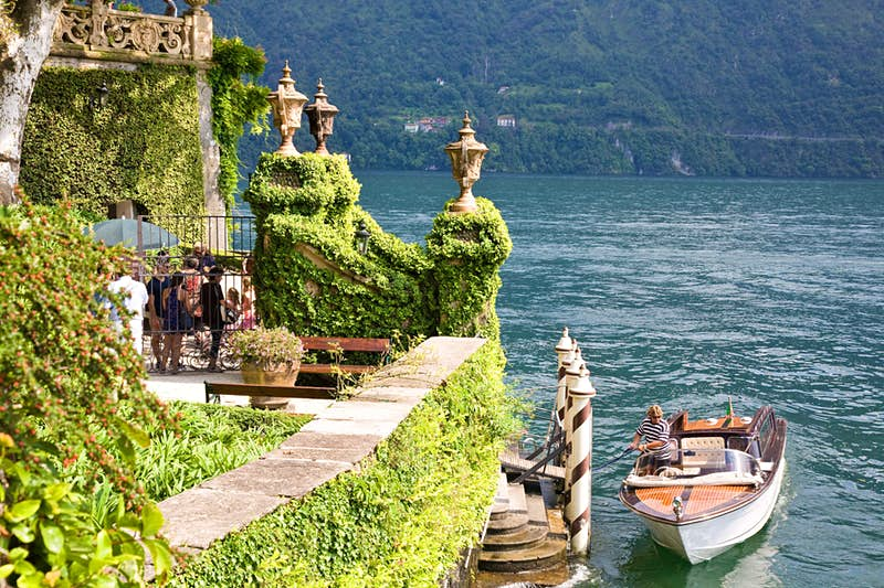 Anakin Skywalker and Padmé Amidala were married in secret at the end of Attack of the Clones in Padmé's family lake house on the planet Naboo. The Villa del Balbianello on Italy's lake Como served as the backdrop for the beautiful house, and is today a very popular spot for weddings! Photo by imagesef/Shutterstock