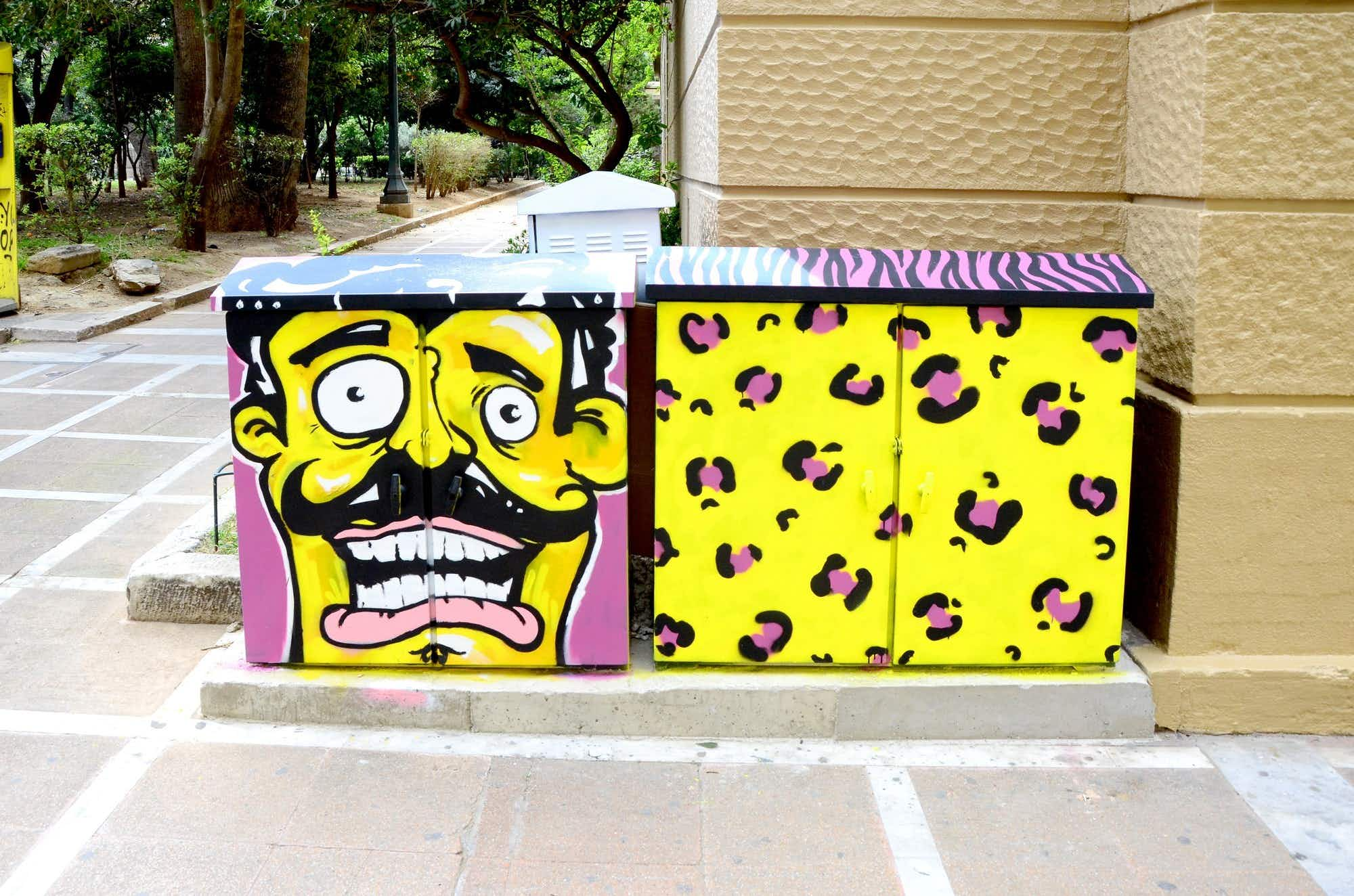 Streets of Athens turn into sprawling art gallery