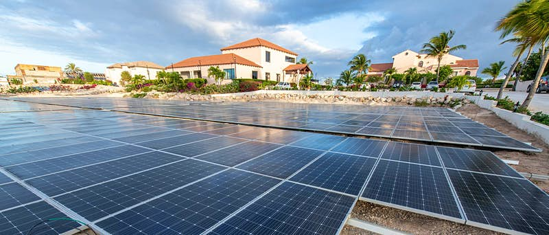 Travel News - Frangipani Beach Resort - solar panel field 2