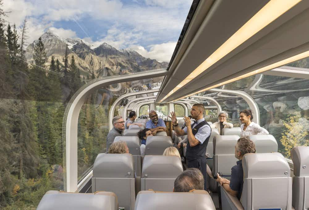 Take a glass-domed train ride through the Canadian Rockies