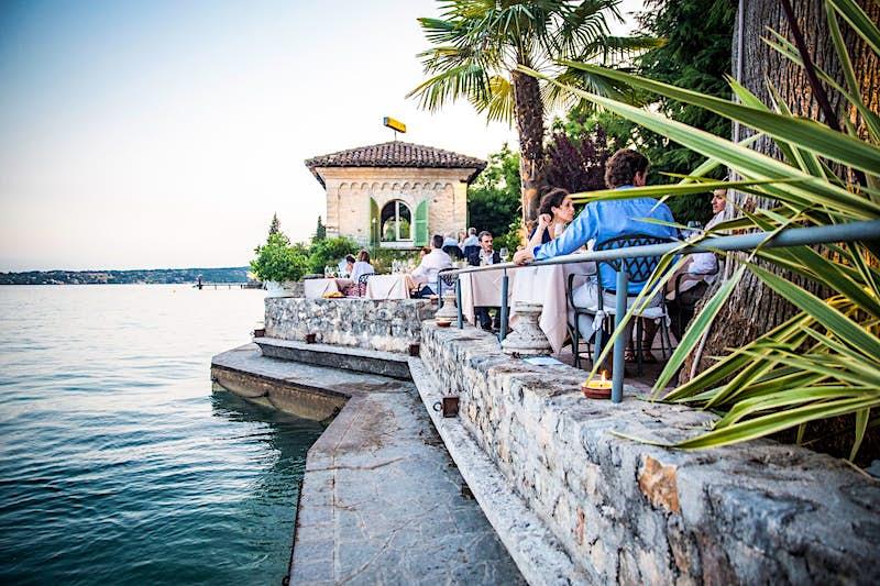 Diners at Ristorante Lido 84 in Gardone Riviera
