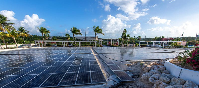 Travel News - Solar panels at the Frangipani Beach Resport