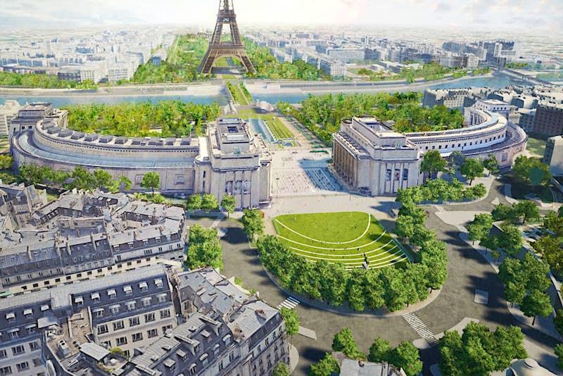 Paris is creating a pedestrianised garden around the Eiffel Tower