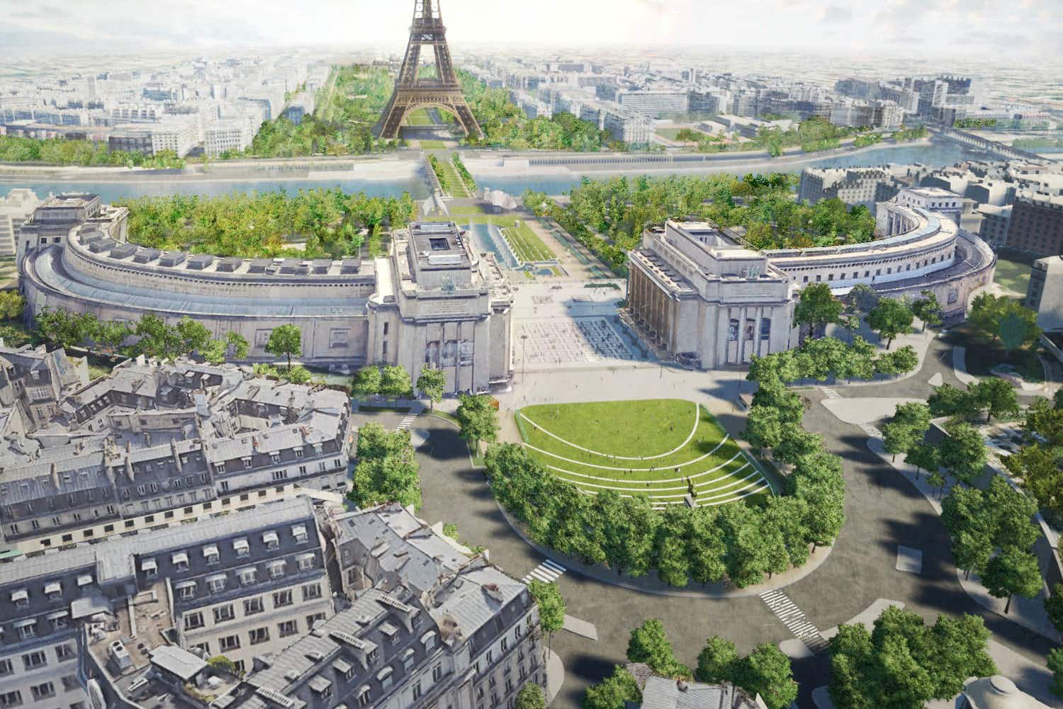 Paris plans a huge pedestrianised garden around the Eiffel Tower