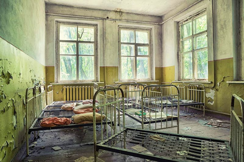 Dorm of a preschool in Pripyat ghost town, Chernobyl