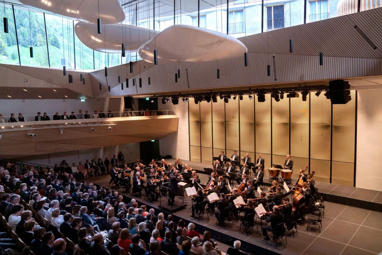 This Swiss Alpine village now has an impressive new concert hall
