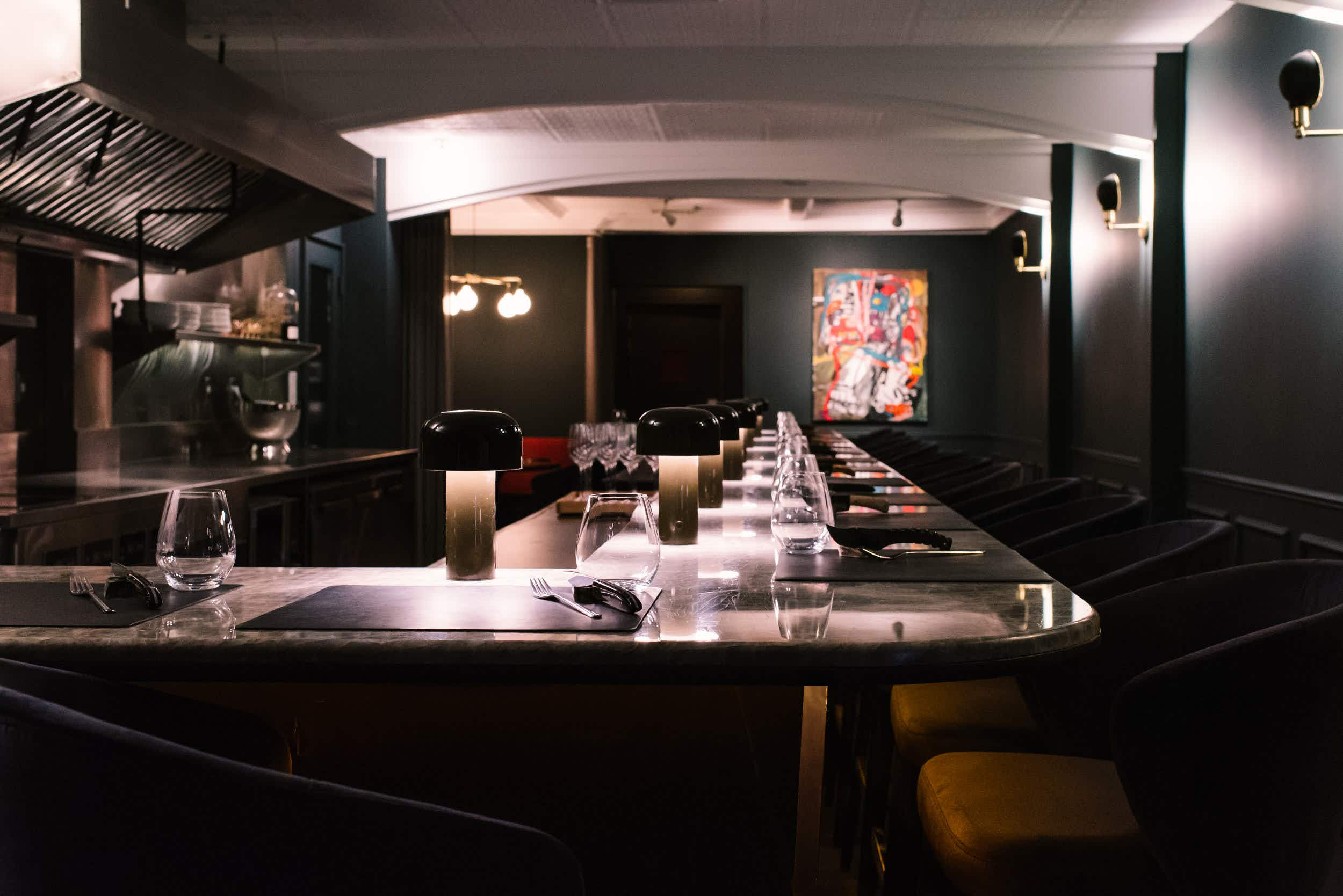 NYC's newest restaurant is hidden behind a painting in an art gallery