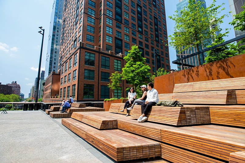 A view of the Spur, the newest section of the High Line in New York.