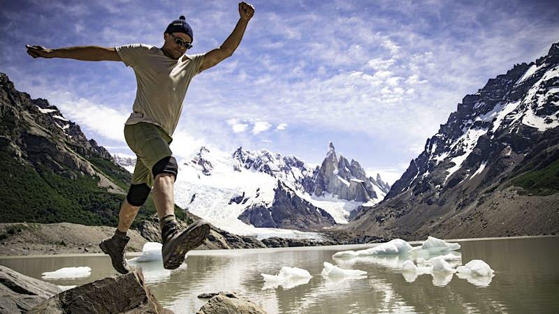 Travel News - Intrepid Travel Patagonia jump