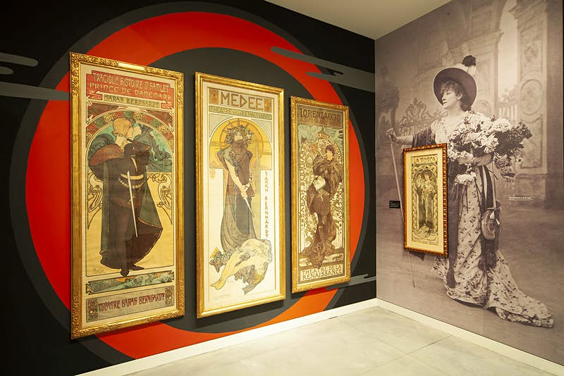 Travel News - Mucha exhibit closeup Poster House