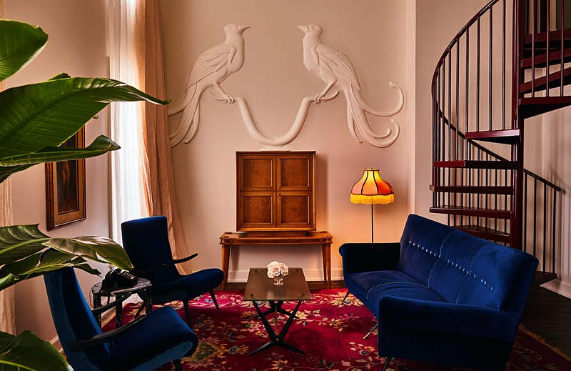 The hotel designers sought to recreate the romance of an earlier era