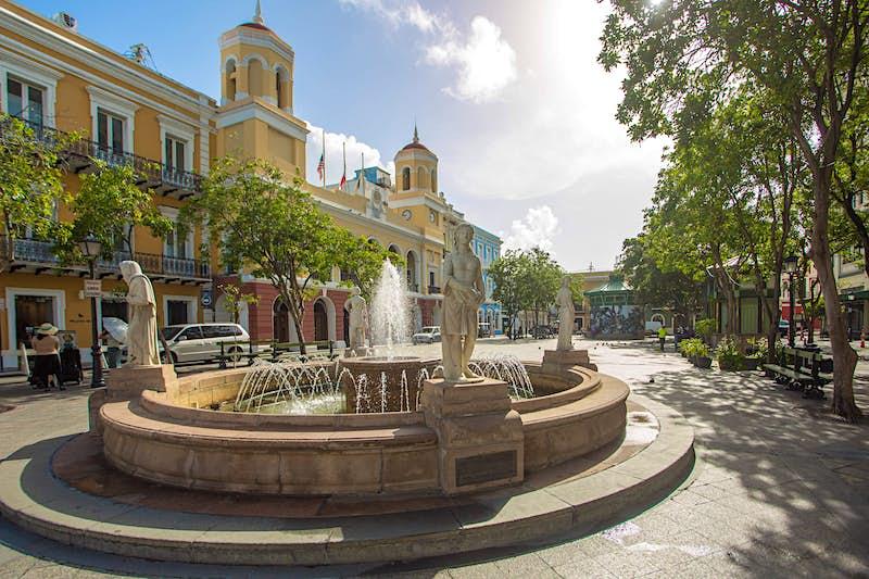 Travel News - Plaza de Armas in Old San Juan - Credit Discover Puerto Rico