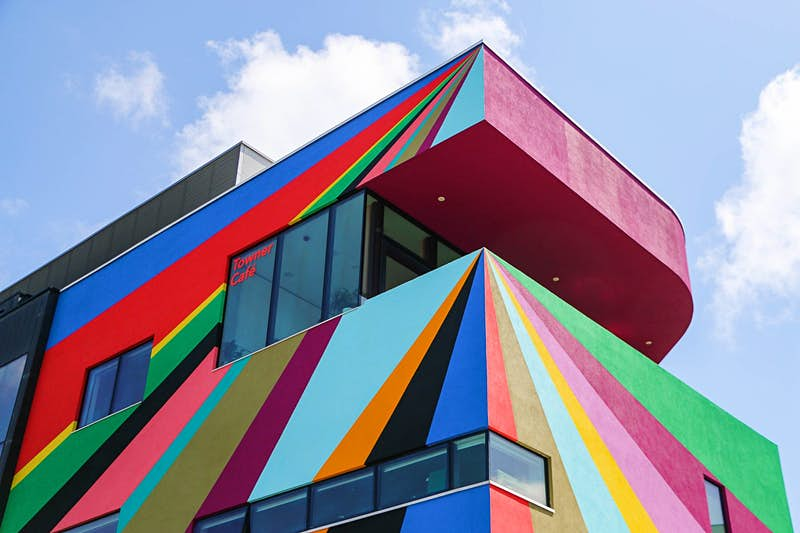 This English art gallery got a rainbow makeover