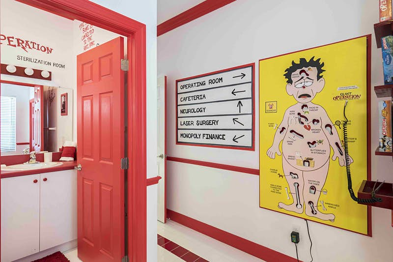 Check out this game-themed Airbnb with a private cinema