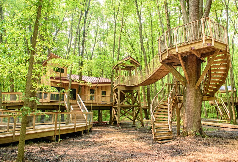Sleep amongst the trees in a new Ohio treehouse village - Lonely Planet
