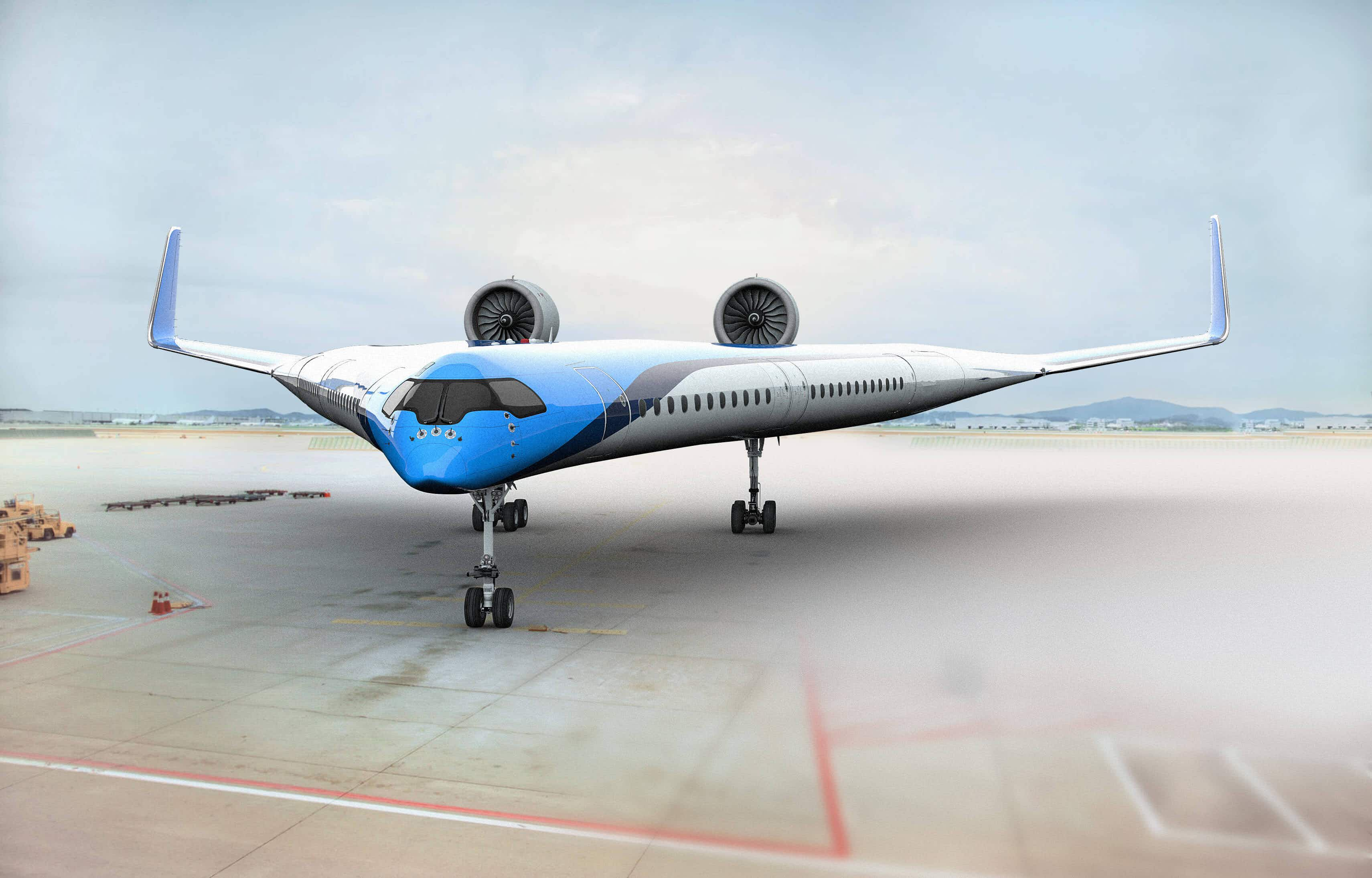 KLM reveals details of plans for a new v-shaped aircraft