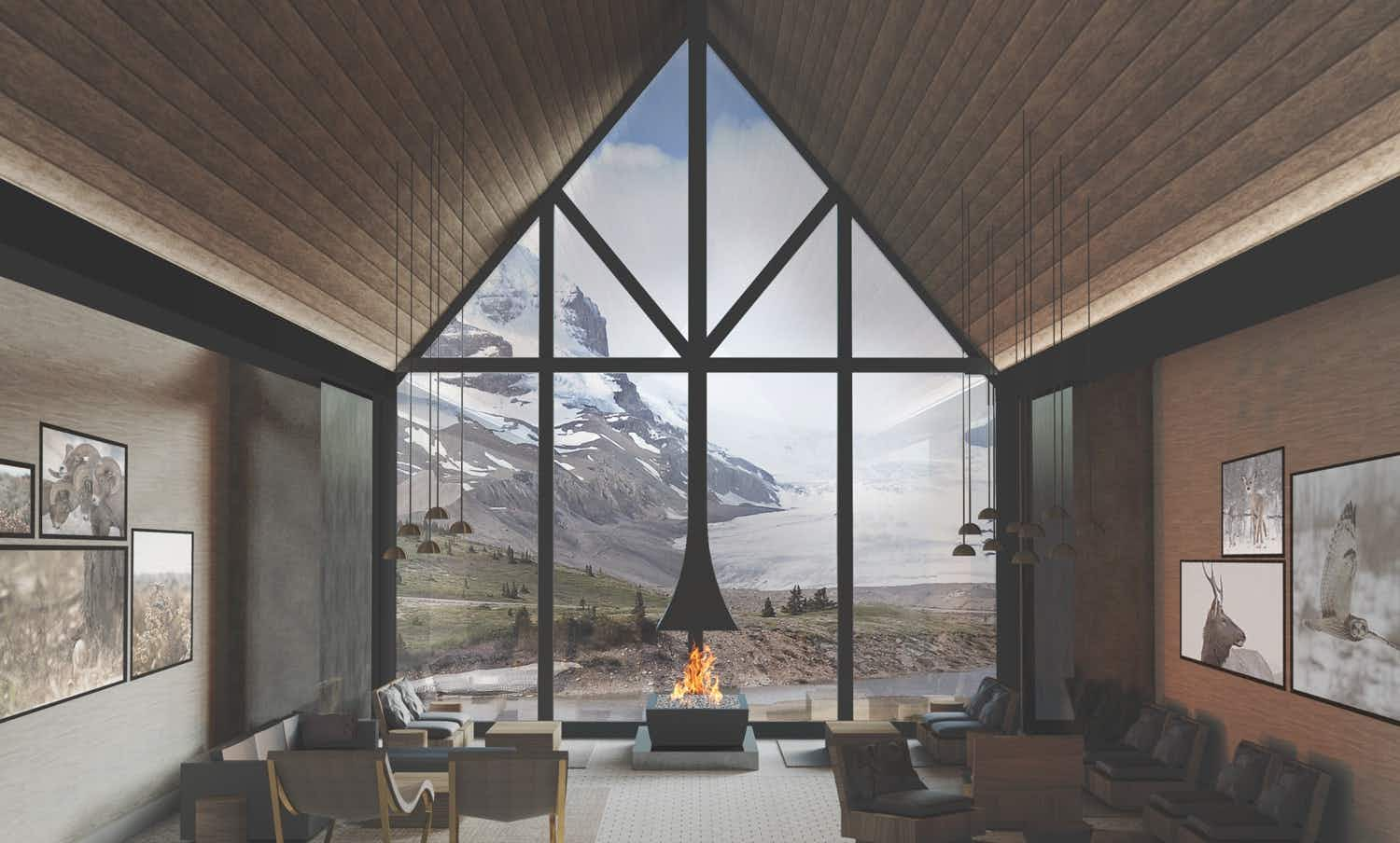 View the Athabasca Glacier from your room at Canada's newest hotel