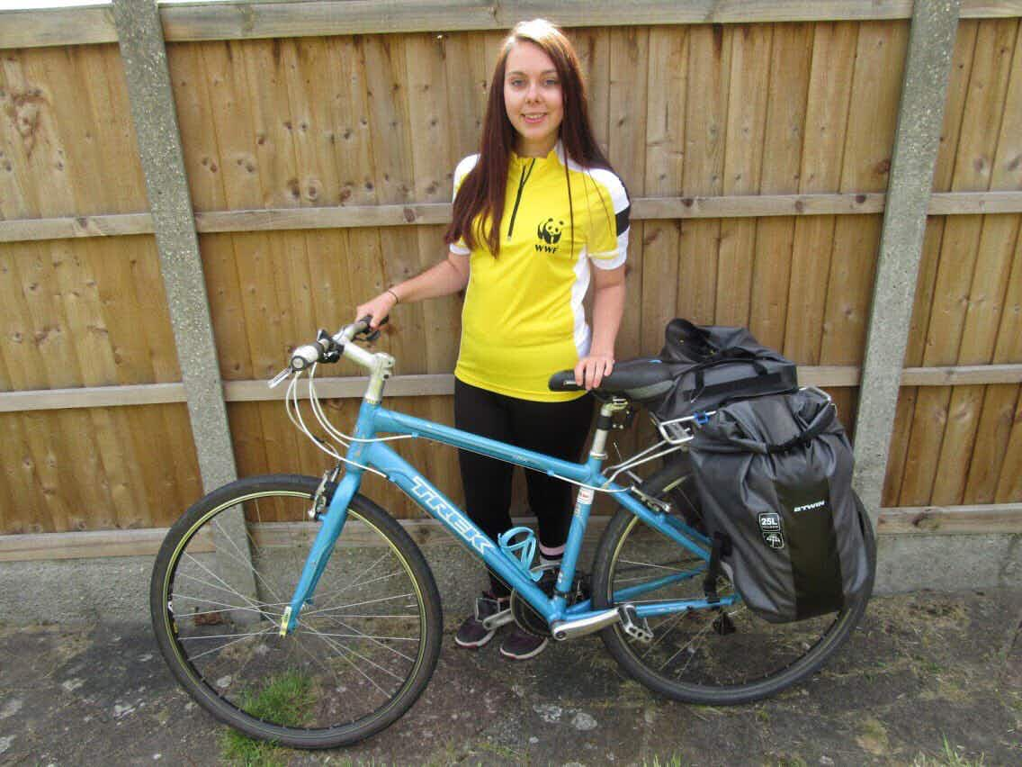 One woman is cycling from London to Istanbul to raise money for the World Wildlife Fund