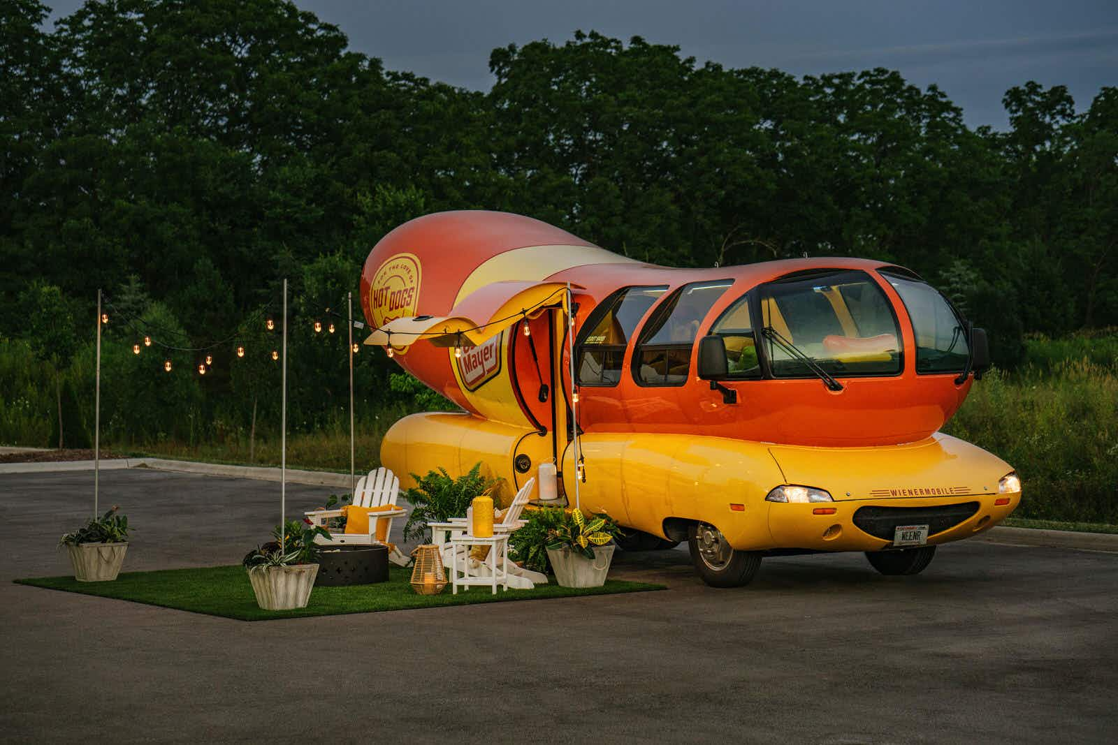 For one weekend in August, you can sleep inside a Wienermobile