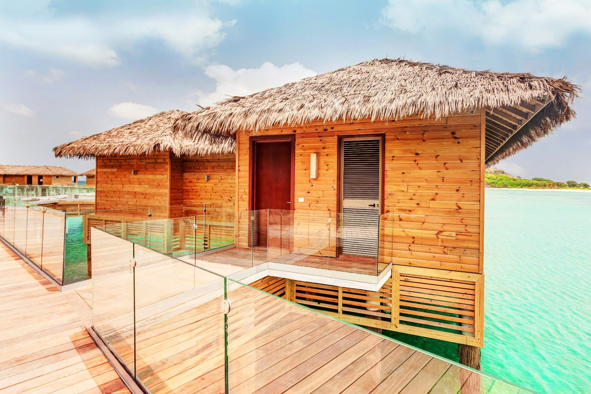 The first overwater bungalows in Antigua and Barbuda come complete with a private butler