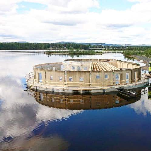 Arctic Bath, a floating hotel and spa in Sweden, is now taking reservations