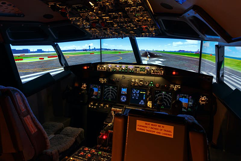 Flight simulator airport hotel Japan