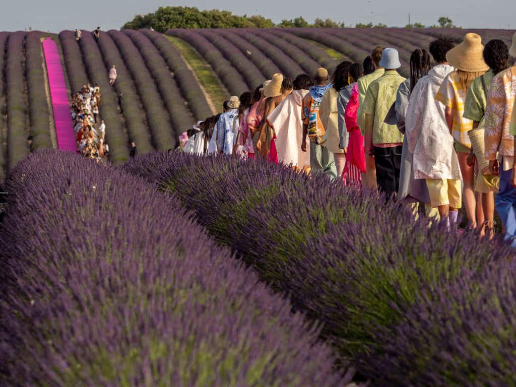 A fashion show was held in France's lavender fields - here's where to find similar spots around the world