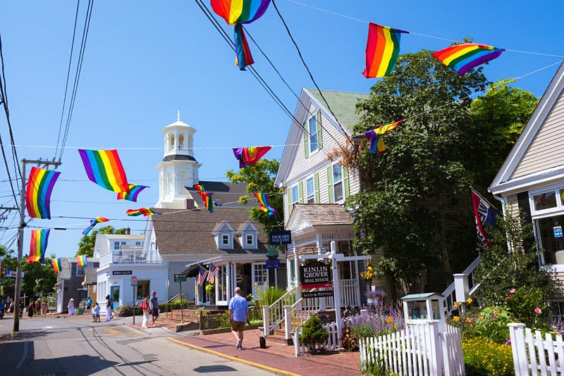 Commercial Street in Provincetown, MA