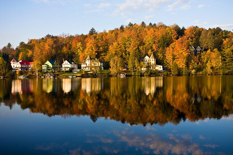 4. Saranac Lake NY Plenty of American travelers are discovering what New Yorkers have known for generations: Adirondack State Park, the largest state park in the U.S, is an outrageously beautiful—and affordable. Image: Getty
