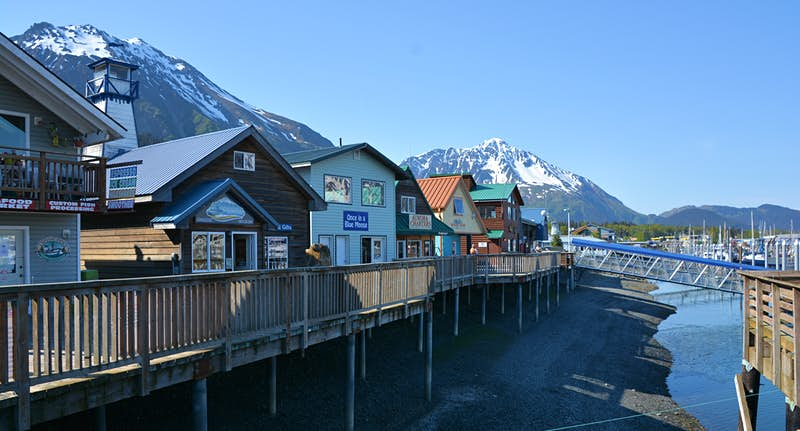 8. Seward, Alaska.  The sea-centric activities alone make a visit here special. Seward's waters are home to halibut, salmon, and rockfish and anglers of all levels can take guided tours with expert fishermen. There's also the surrounding Kenai Fjords National Park.  Image: Getty