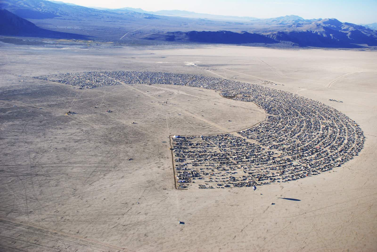 View Black Rock City through the ages ahead of this year's Burning Man