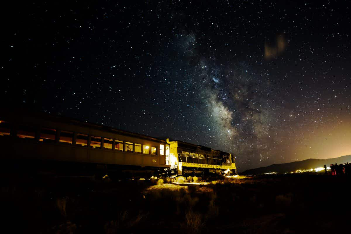 Take a night train on a stargazing adventure in Nevada
