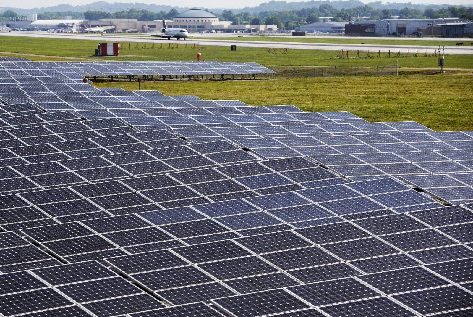 This is the first airport in the US to operate fully on renewable energy