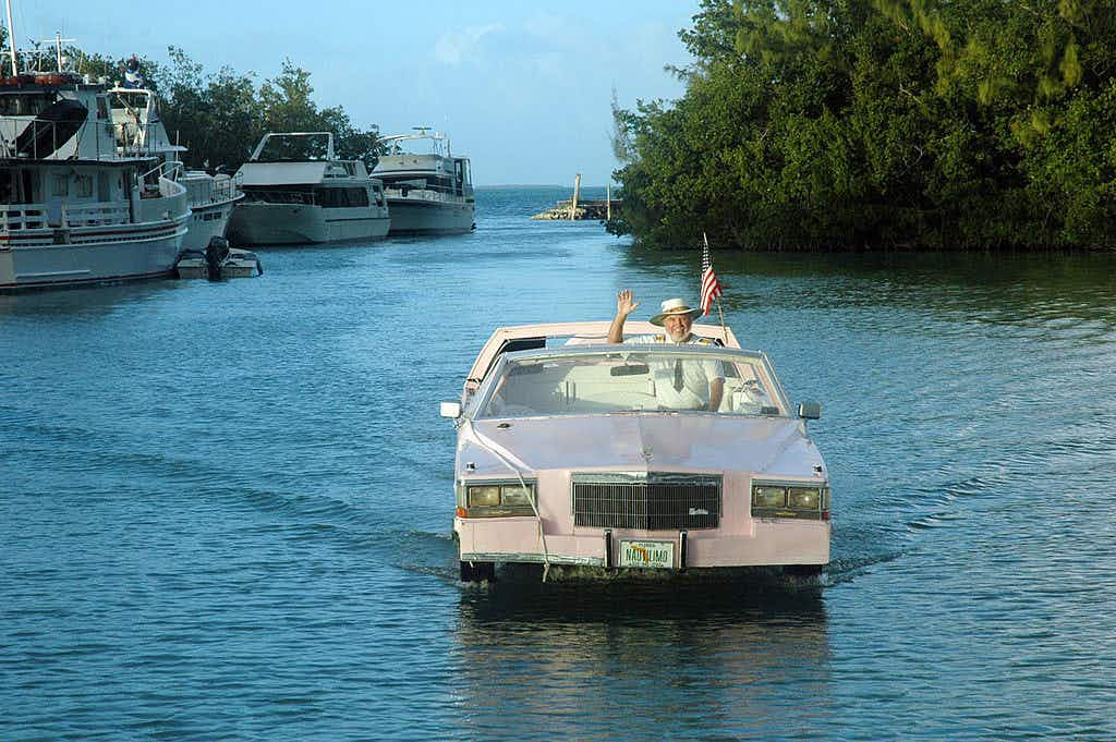 Tour the Florida Keys on a floating pink convertible limo