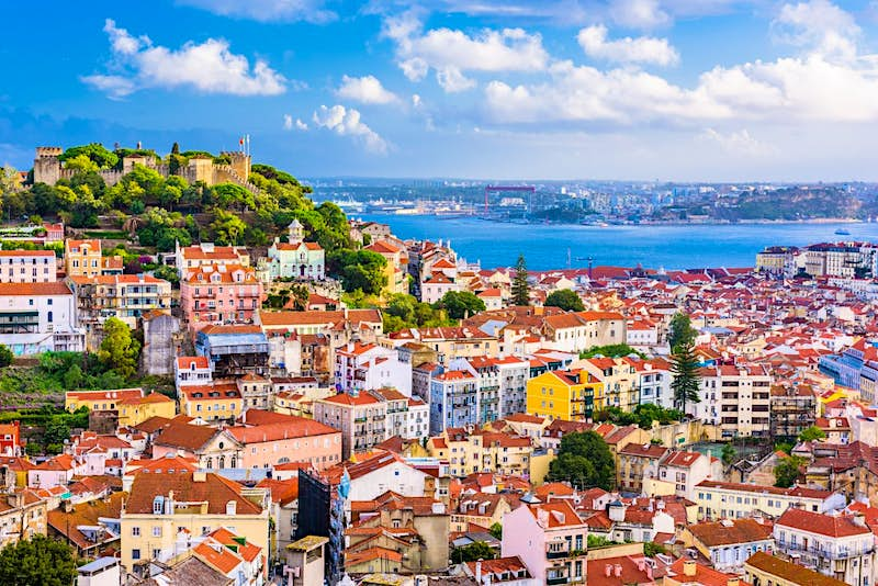 An aerial view of the city of Lisbon in Portugal