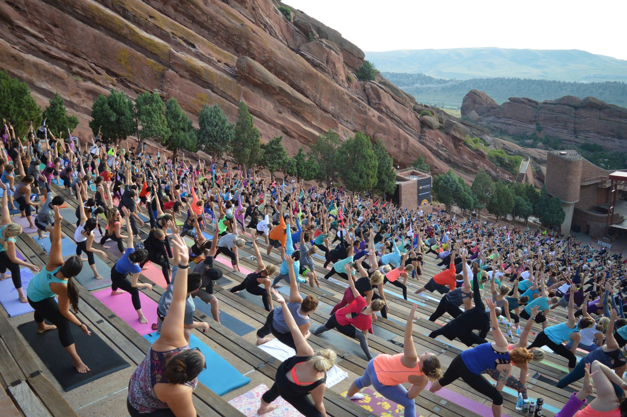 You Can Do Outdoor Yoga At The Famed Red Rocks Amphitheater In Colorado Lonely Planet