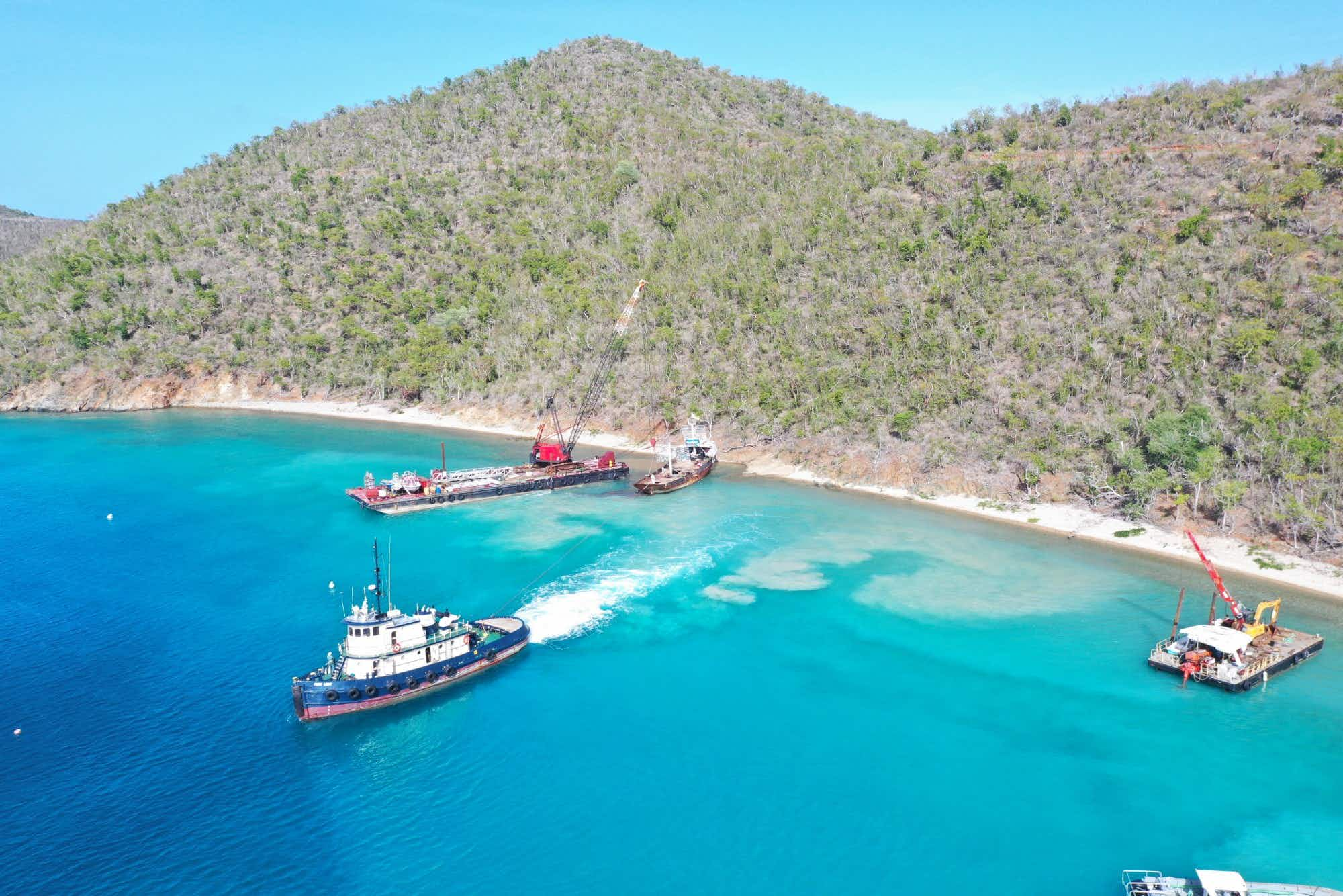 Planes are being sunk to create an artificial reef system for divers in the British Virgin Islands