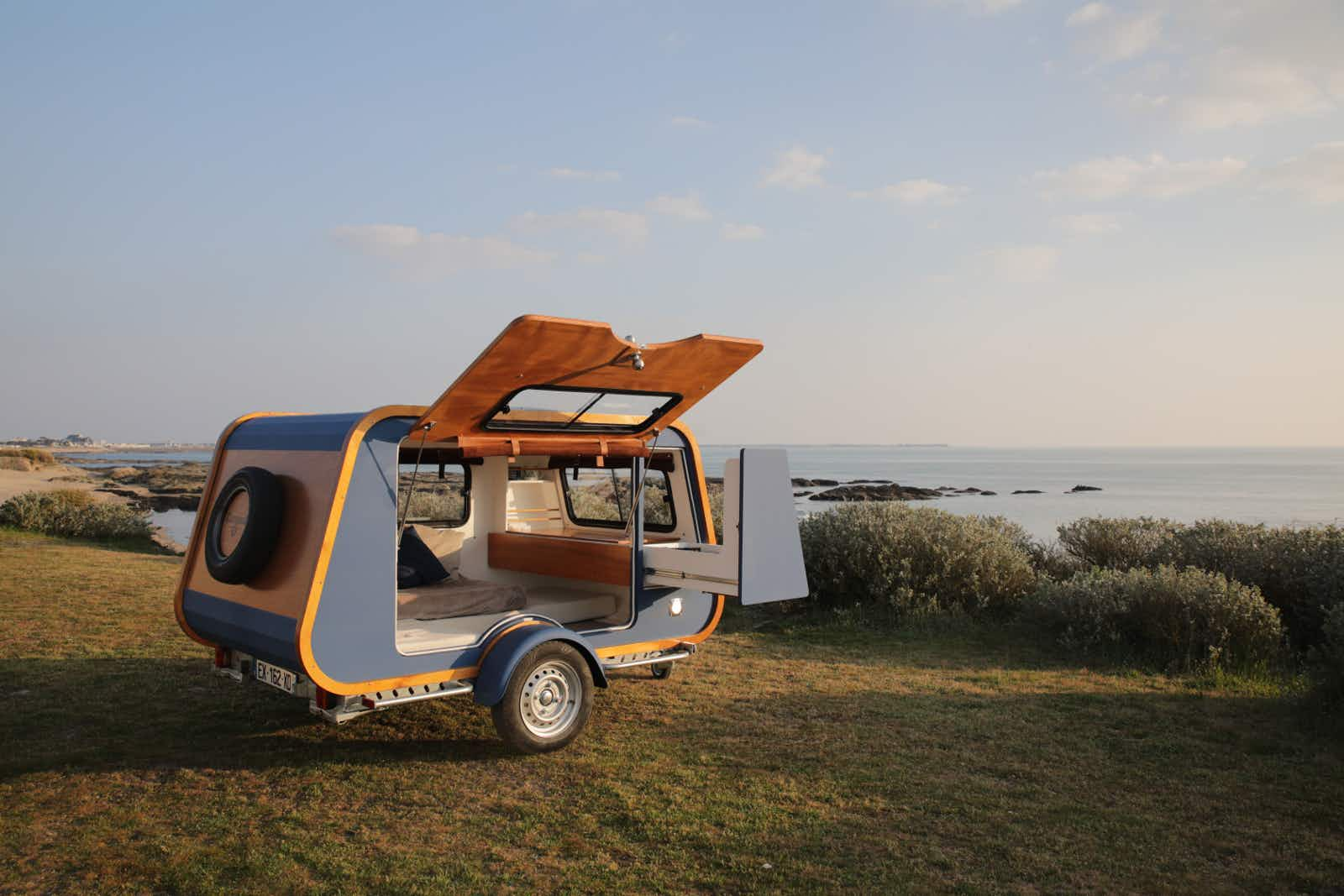This stylish mini-trailer could be perfect for your next European adventure