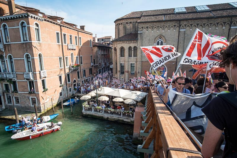 Protest Against The Cruise Ships In Venice