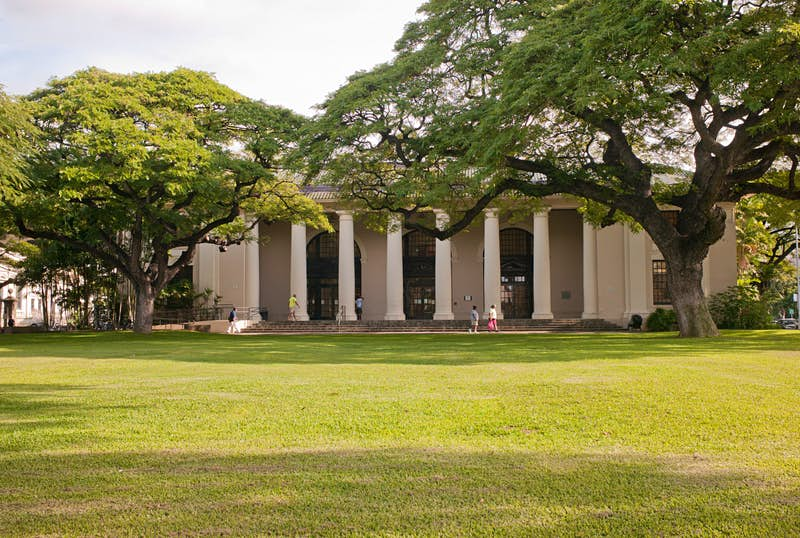 Hawaii State Library on the island of Oahu.