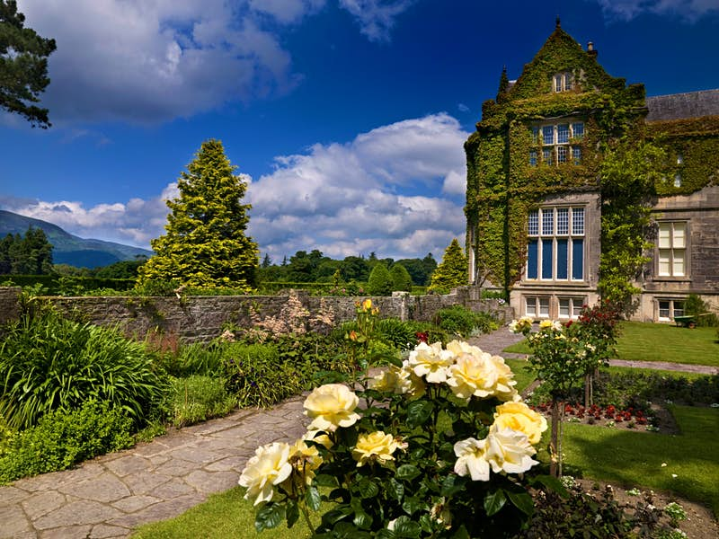 The exterior of Muckross House is in Killarney