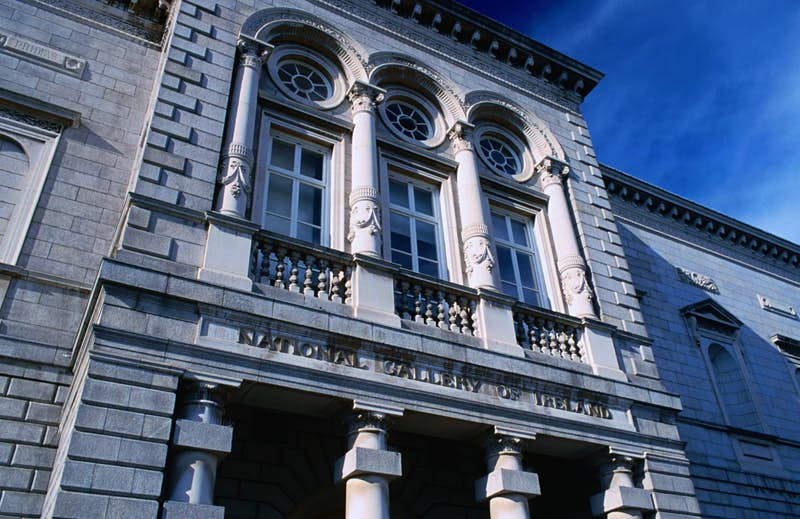 The facade of the National Gallery of Ireland