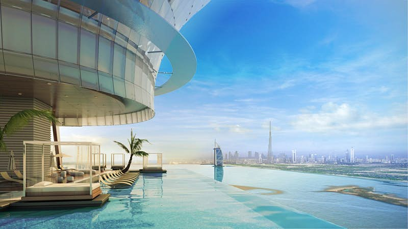 Dubai is building one of the world's tallest infinity pools
