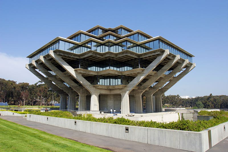 Geisel Library at University Of California, San Diego in La Jolla, California.
