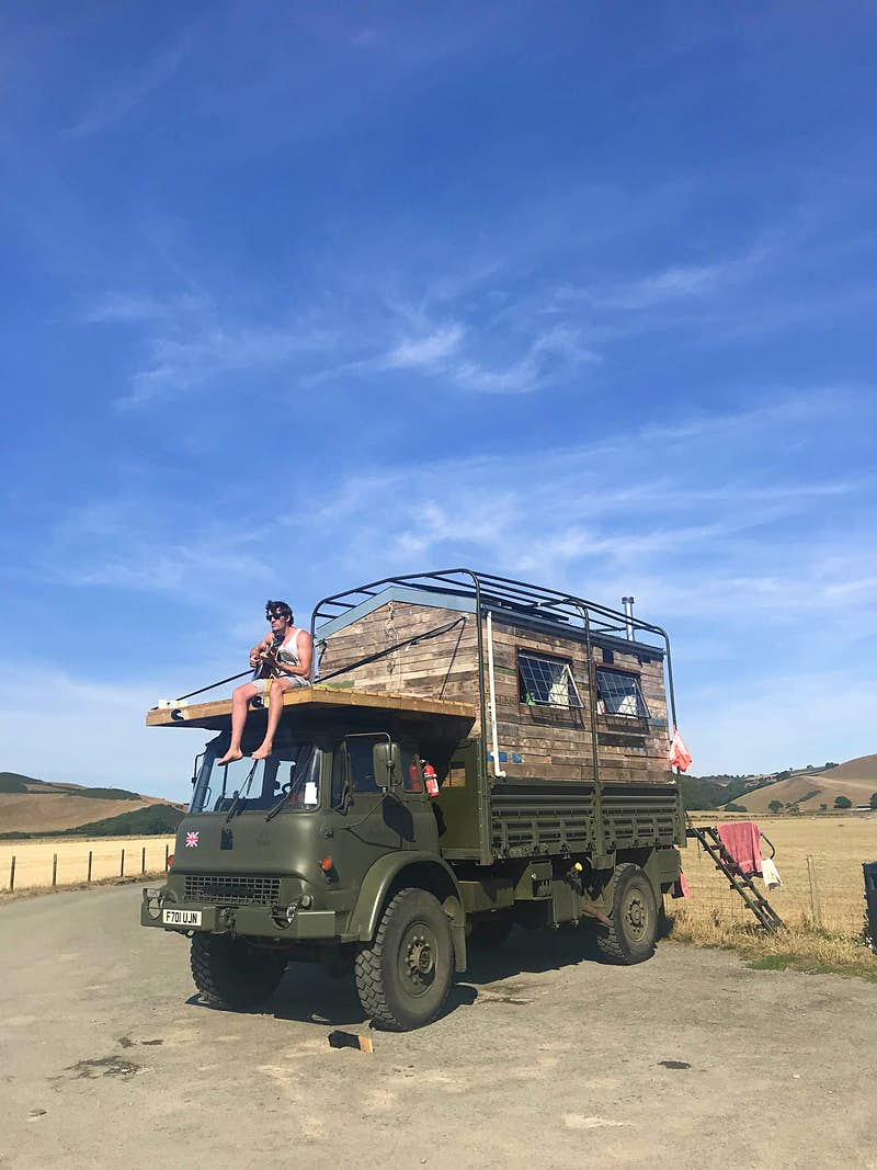 This 24-year-old has taken his off-grid shed to van life extremes