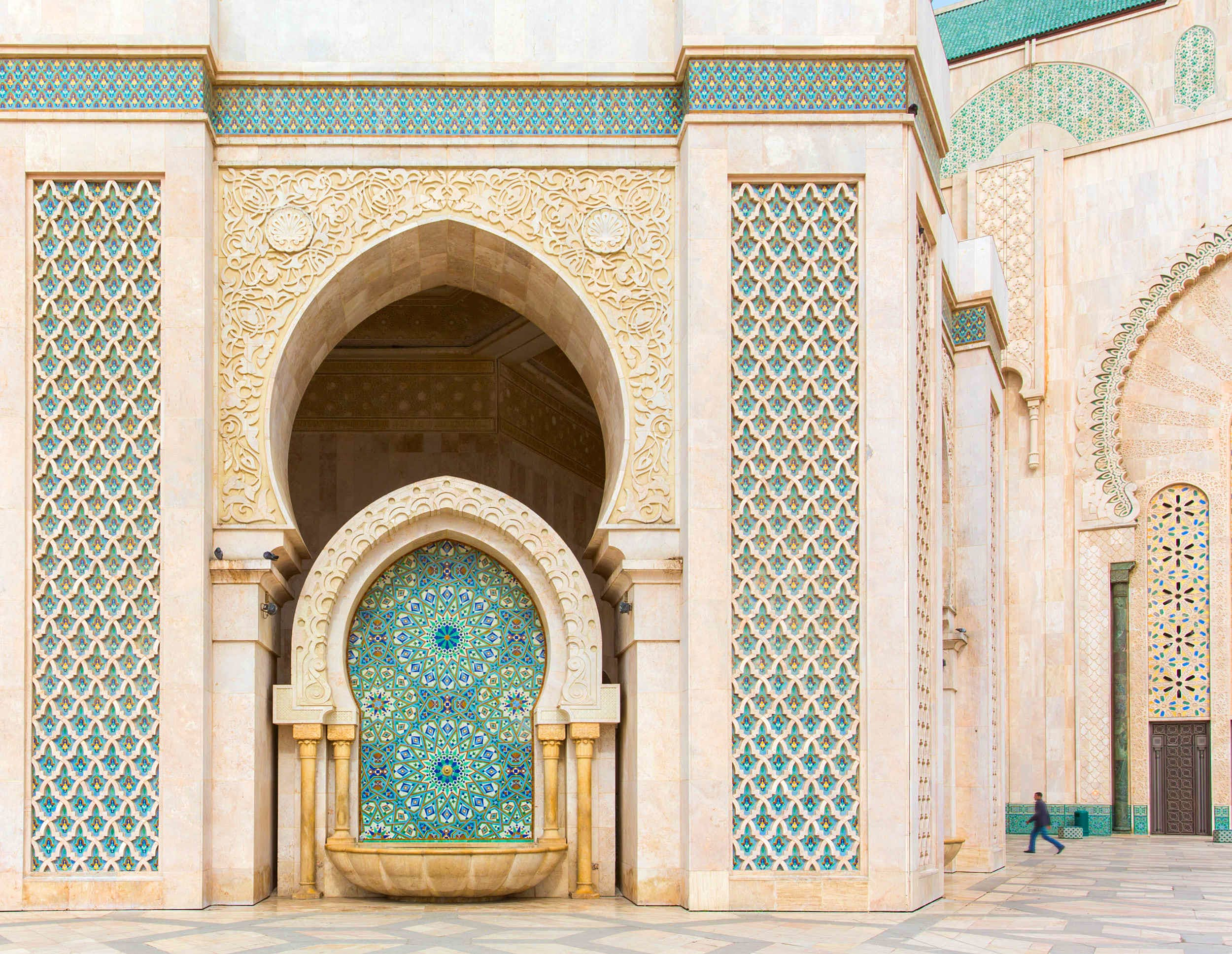 Travel News - Detail of Hassan II Mosque in Casablanca, Morocco